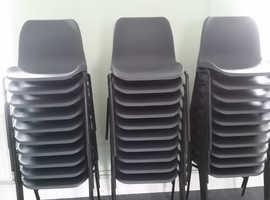 30 x dark grey polypropylene chairs