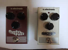 TC electronic Rusty Fuzz and Forcefield Pedals