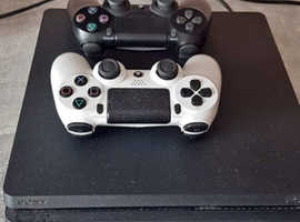 PS4 slim 500GB with two controllers for sale - If its still up, its still available