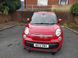 Fiat 500l, 2013 (13) Red MPV, Manual Petrol, 57,000 miles