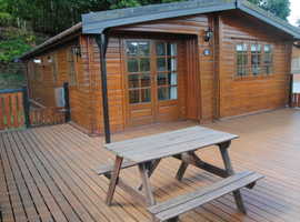 Rustic Lodge For Sale In Suffolk! Log cabin style
