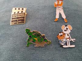 Vintage metal badges