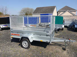 BRAND NEW 7.7 X 4.2 SINGLE AXLE TRAILER WITH 80CM MESH AND A RAMP
