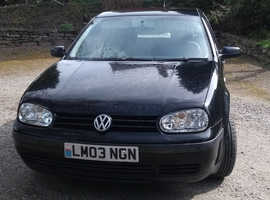 Volkswagen Golf, 2003 (03) Black Hatchback, Manual Diesel, 139,050 miles