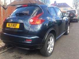 2011 Nissan Juke Acent in blue, 1.6 petrol, climate control, very good condition