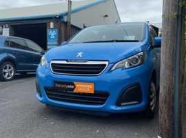 Peugeot 108, 2016 (65) Blue Hatchback, Manual Petrol, 47,095 miles