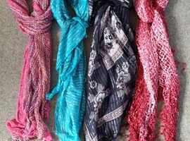 4 ladies neck scarves
