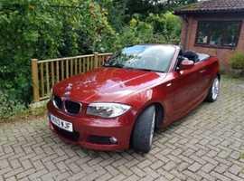 BMW 1 series, 2013 (13) Red Convertible, Manual Diesel, 56,000 miles
