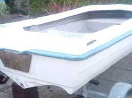 Dinghy with road trailer, stable and Ideal for yacht tender, fishing etc.  Good all rounder!
