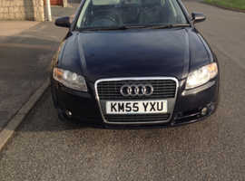 Audi A4, 2005 (55) Blue Saloon, Manual Diesel, 140,000 miles