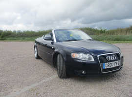 Audi A4, 2007 (07) Blue Convertible, Manual Diesel, 97,241 miles