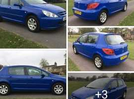 Peugeot 307, 2005 (54) Blue Hatchback, Manual Diesel, 108,000 miles