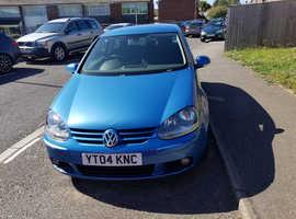 Volkswagen Golf, 2004 (04) Blue Hatchback, Manual Petrol, 150,000 miles