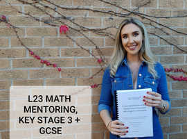 Mathematics mentor/tutor Key Stage 3 and GCSE level, £20 an hour