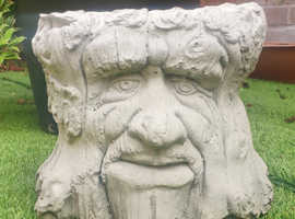 Cement garden ornament, game of thrones style face in free