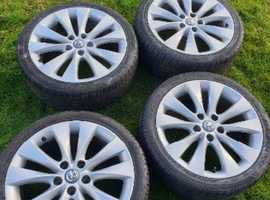 """18"""" alloys with tyres vauxhall"""