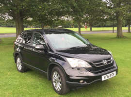 Honda CR-V, 2012 (61) Black Estate, Manual Petrol, 72,950 miles