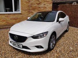 Mazda MAZDA 6, 2014 (14) white saloon, Manual Diesel, 70,500 miles