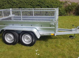 BRAND NEW Trailer 8.2 x 4.3 double axle with 40cm mesh 2700kg £1700