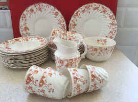"""Antique Vintage China Tea Set by SF & Co of Stoke-on-Trent, """"Jersey"""" Floral pattern"""