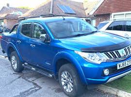Mitsubishi L200, 2015 (65) Blue 4x4, Manual Diesel, 61,000 miles