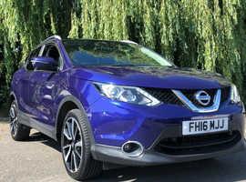 Nissan Qashqai, 2016 (16) Blue Hatchback, Manual Diesel, 53,000 miles