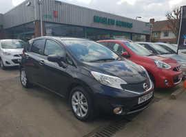 Nissan Note, 2014 (63) Black MPV, Cvt Petrol, 56,511 miles