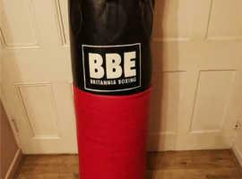 BBE super impact 4ft leather punch bag - 40KG - BBE092 - FIBRE FILLED - 6 RING