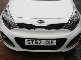 Kia Rio, 2012 (62) White Hatchback, Manual Petrol, 35,864 miles