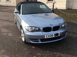 BMW 1 series, 2008 (08) Blue Convertible, Manual Petrol, 87,361 miles