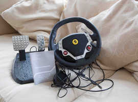 Thrustmaster Ferrari F430  pc/usb Force Feedback racing wheel and pedals.