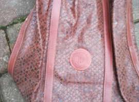 Brown Snakeskin Look Ladies Bag