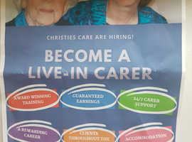 Live in carer opportunities throughout the UK.