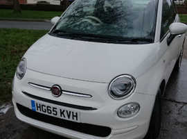 Fiat 500, 2015 (65) White Hatchback, Manual Petrol, 50,000 miles