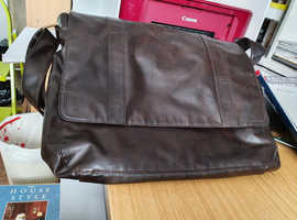 Faux Brown Leather Messenger Bag by Next
