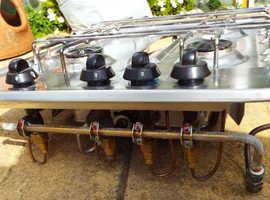 Camper Van Motorhome Gas Stove 3 Hobs and Grill