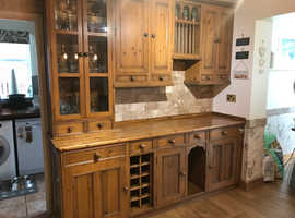 Solid Wood Antique Pine Kitchen