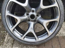 vauxhall astra j vxr alloy wheel with tyre 20 inch