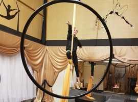 Aerial Gymnastics, hoop and silks, St Helens, Merseyside