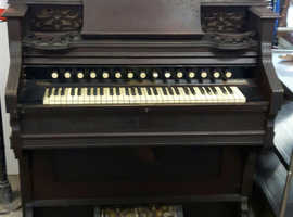 A Ornate Victorian Air Organ / Pump Organ 1887
