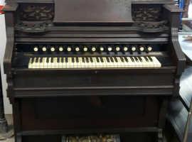 A Ornate Victorian Air Organ / Pump Organ 1887