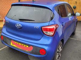 Hyundai i10, 2020 (69) Blue Hatchback, Manual Petrol, 8,000 miles