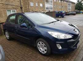 Peugeot 308, 2010 (10) Blue Hatchback, Manual Petrol, 42,172 miles