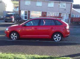 Skoda Rapid, 2013 (63) red hatchback, Manual Petrol, 17250 miles