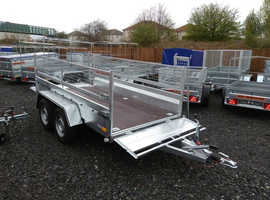 BRAND NEW 10X5 TWIN AXLE HEAVY DUTY TRALER WITH 40CM MESH AND BRAKES 2700KG MASTER