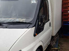Fridge Van Used as Stationery Walk-in fridge. Fit with Extra condensing Unit