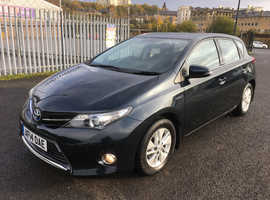 Toyota Auris, 2014 (14) Grey Hatchback, Cvt Hybrid, 62,000 miles