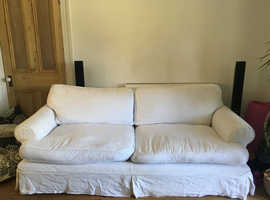 white 3 seater sofa.