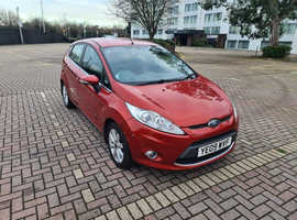 Ford Fiesta, 2009 (09) Red Hatchback, Manual Petrol, 95,288 miles