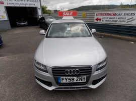 Audi A4, 2008 (58) Silver Saloon, Cvt Diesel, 62,050 miles